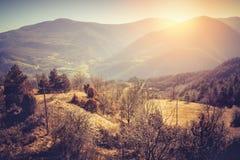 Τοπίο φθινοπώρου των βουνών Apennine, Ιταλία Στοκ φωτογραφίες με δικαίωμα ελεύθερης χρήσης