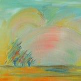 τοπίο φθινοπώρου watercolour διανυσματική απεικόνιση