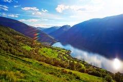 Τοπίο φιορδ της Νορβηγίας Στοκ εικόνα με δικαίωμα ελεύθερης χρήσης
