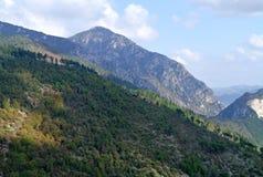 Τοπίο φύσης βουνών στην Ιταλία Στοκ Φωτογραφίες