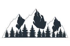 Τοπίο φύσης βουνών υπαίθρια διανυσματική απεικόνιση