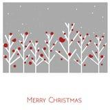 Τοπίο Χαρούμενα Χριστούγεννας διάνυσμα στενός κόκκινος χρόνος Χριστουγέννων ανασκόπησης επάνω Στοκ φωτογραφία με δικαίωμα ελεύθερης χρήσης