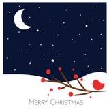 Τοπίο Χαρούμενα Χριστούγεννας διάνυσμα στενός κόκκινος χρόνος Χριστουγέννων ανασκόπησης επάνω Στοκ Εικόνες