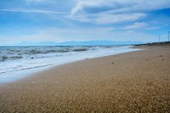 Τοπίο χειμερινής θάλασσας στην Τουρκία στη Μεσόγειο Στοκ εικόνες με δικαίωμα ελεύθερης χρήσης