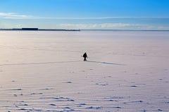 Τοπίο χειμερινής θάλασσας πρωινού στοκ εικόνες
