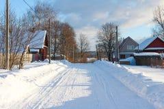 Τοπίο χειμερινής χώρας Στοκ εικόνα με δικαίωμα ελεύθερης χρήσης