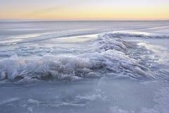 Τοπίο χειμερινού πάγου Στοκ φωτογραφία με δικαίωμα ελεύθερης χρήσης