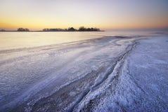 Τοπίο χειμερινού πάγου Στοκ εικόνες με δικαίωμα ελεύθερης χρήσης
