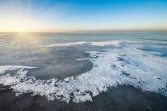 Τοπίο χειμερινού πάγου Στοκ Εικόνες