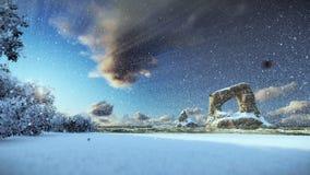 Τοπίο χειμερινών ακτών, υδρονέφωση πρωινού ελεύθερη απεικόνιση δικαιώματος