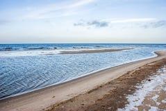 Τοπίο χειμερινών παραλιών Τοπίο χειμερινών παραλιών στοκ εικόνες