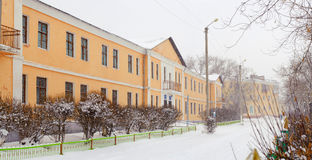 Τοπίο χειμερινών πόλεων Στοκ Φωτογραφίες