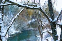 Τοπίο Χειμώνας ποταμών Στοκ φωτογραφία με δικαίωμα ελεύθερης χρήσης