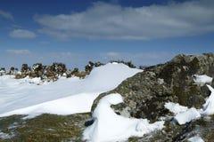 Τοπίο χιονιού στο εθνικό πάρκο Dartmoor Στοκ Εικόνα