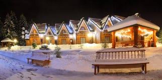 Τοπίο Χριστουγέννων χειμώνα Στοκ εικόνα με δικαίωμα ελεύθερης χρήσης