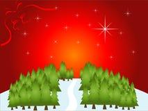 τοπίο Χριστουγέννων Στοκ Φωτογραφίες