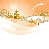 τοπίο Χριστουγέννων Στοκ Φωτογραφία