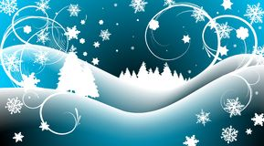 τοπίο Χριστουγέννων Στοκ φωτογραφία με δικαίωμα ελεύθερης χρήσης