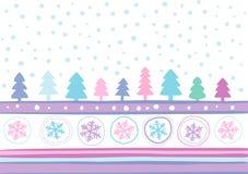 τοπίο Χριστουγέννων Στοκ Εικόνες