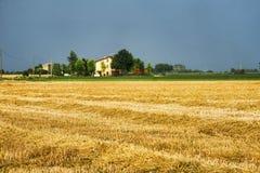 Τοπίο χώρας κοντά σε Fiorenzuola Piacenza, Ιταλία Στοκ φωτογραφίες με δικαίωμα ελεύθερης χρήσης