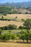 Τοπίο χώρας μεταξύ Rieti Λάτσιο και Terni Ουμβρία Στοκ Εικόνα