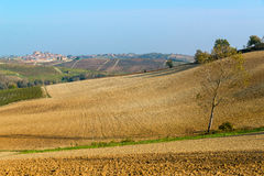 Τοπίο λόφων Monferrato Στοκ εικόνα με δικαίωμα ελεύθερης χρήσης