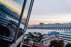Τοπίο όχθεων ποταμού της Σεούλ, Νότια Κορέα στοκ εικόνα με δικαίωμα ελεύθερης χρήσης