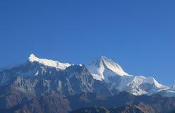 Τοπίο Annapurna Pokhara Νεπάλ βουνών του Ιμαλαίαυ Machhapuchhre Στοκ εικόνα με δικαίωμα ελεύθερης χρήσης