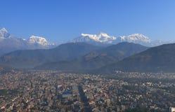 Τοπίο Annapurna Pokhara Νεπάλ βουνών του Ιμαλαίαυ Machhapuchhre Στοκ φωτογραφίες με δικαίωμα ελεύθερης χρήσης