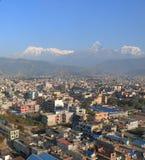 Τοπίο Annapurna Pokhara Νεπάλ βουνών του Ιμαλαίαυ Machhapuchhre Στοκ Φωτογραφία