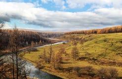 Τοπίο Arxan στην εσωτερική Μογγολία Στοκ Εικόνα