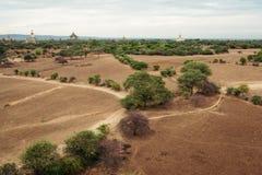 Τοπίο Bagan επάνω με τις παγόδες και τους ναούς στο Μιανμάρ Στοκ φωτογραφία με δικαίωμα ελεύθερης χρήσης