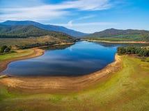Τοπίο Buffalo λιμνών, αλπικό Shire, Βικτώρια, Αυστραλία Στοκ εικόνα με δικαίωμα ελεύθερης χρήσης