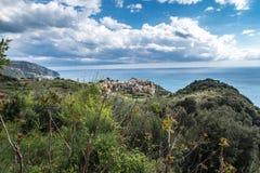 Τοπίο Cinque Terre Ιταλία Corniglia Στοκ φωτογραφίες με δικαίωμα ελεύθερης χρήσης