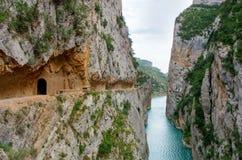 Τοπίο Congost de Mont-rebei, Ισπανία στοκ φωτογραφία με δικαίωμα ελεύθερης χρήσης