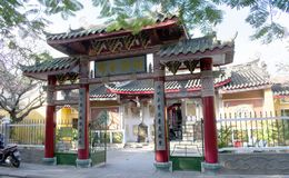 ΤΟΠΊΟ DA NANG - παλαιά πόλη Hoi - ναός στοκ εικόνα με δικαίωμα ελεύθερης χρήσης