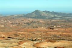 Τοπίο Fuerteventura, Κανάρια νησιά Στοκ Εικόνες