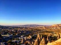 Τοπίο Goreme, Cappadocia, Τουρκία Στοκ φωτογραφία με δικαίωμα ελεύθερης χρήσης