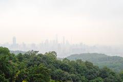 τοπίο guangzhou πόλεων Στοκ Εικόνες