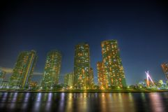 Τοπίο HDR νύχτας στο Τόκιο στοκ φωτογραφία με δικαίωμα ελεύθερης χρήσης