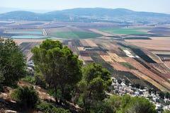 Τοπίο Izrael της κοιλάδας Ισραήλ Στοκ εικόνα με δικαίωμα ελεύθερης χρήσης