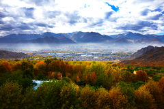 Τοπίο Lhasa Στοκ φωτογραφίες με δικαίωμα ελεύθερης χρήσης