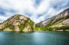 Τοπίο Lysefjord Νορβηγία Στοκ Εικόνες