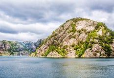 Τοπίο Lysefjord Νορβηγία Στοκ φωτογραφίες με δικαίωμα ελεύθερης χρήσης