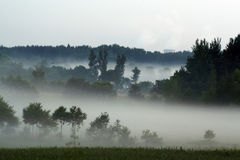 τοπίο misty Στοκ Φωτογραφίες