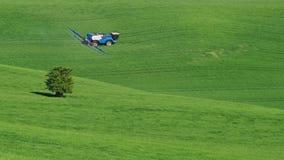 Τοπίο Moravian Τοσκάνη, νότια Μοραβία, Τσεχία Στοκ Εικόνα