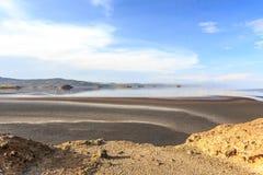 Τοπίο Natron λιμνών Στοκ φωτογραφία με δικαίωμα ελεύθερης χρήσης