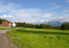 Τοπίο Nesjestranda της Νορβηγίας Στοκ φωτογραφία με δικαίωμα ελεύθερης χρήσης