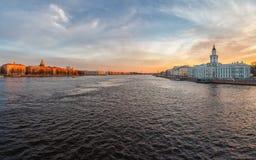 Τοπίο Nevsky με το Kunstkamera Στοκ Εικόνες