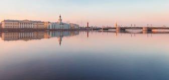 Τοπίο Nevsky με το Kunstkamera Στοκ φωτογραφίες με δικαίωμα ελεύθερης χρήσης